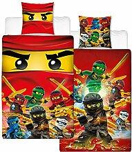 Biber Kinder-Wende-Bettwäsche Lego Ninjago