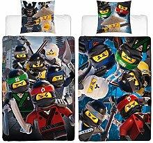 Biber Kinder-Wende-Bettwäsche Lego Ninjago Movie