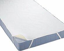 biberna 808325 wasserundurchlässige Molton Matratzenauflage mit atmungsaktiver PU-Beschichtung, nach Öko-Tex Standard 100, 90 x 190 bis 100 x 200 cm, weiß