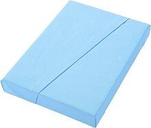 Biberna Betttuch B/L: 100 cm x 200 blau Bettlaken