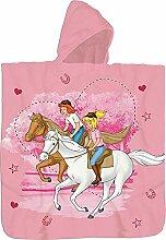 Bibi und Tina Kinder Kaputzen Bade-Poncho Rosa 60