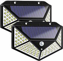 Bicolor Solarleuchten für Außen,100 LED