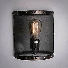 BIDENG Industrial Retro Eisen Wand Lampe Coffee