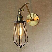 BIDENG Kreative Retro Dekoration Lampe Eisen Lange