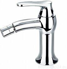 Bidet Armatur Bidetmischer KLASSISCHER STILL Wasserhahn Waschtischarmatur Einhebelmischer Bad Chrom Art Deco AD5120 CR