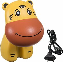 Bieco 04001377 - Kinder LED Lampe Tiger, ca. 12 x