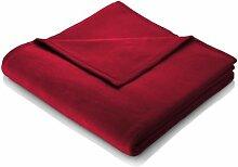 Biederlack Kuscheldecke Rot 150 x 200 cm,