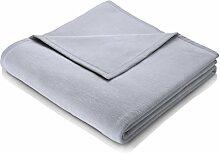 biederlack Sevilla Decke/Überwurf grau