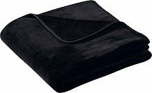 biederlack Wohndecke schwarz Größe 180x220 cm