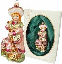 Biedermeier Girl with Broom Hanging Figurine