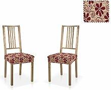 Bielastische Stuhl-Husse Aljub, zweier Pack, Größe Standard (bis 45x45 cm), Farbe Rot (Mehrere Farben verfügbar)