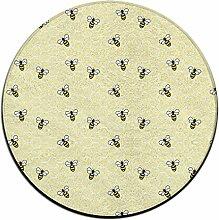 Biene auf Honeycomb rund Boden Teppich Fußmatten für Esszimmer Schlafzimmer Küche Badezimmer Balkon