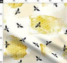 Biene, Honig, Sommer, Garten, Wasserfarben,