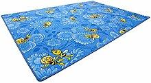 Biene Maja blau Teppich | Spielteppich | Kinderteppich 200x200 cm