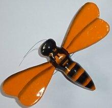 Biene, orange - Handbemalter Holzmagnet, Magnet zur Deko, Tiermagnet, Geschenkidee magnetisch, Magnetbiene
