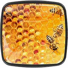 Bienen Arbeiten an Waben 4 Stück