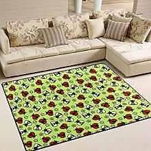 Bienen und Marienkäfer Teppich 4 'x 6',