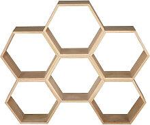 Bienennest-Regal aus Eiche mit