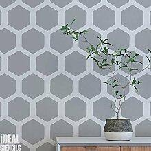 Bienenwabe Muster Schablone Heim Wand Dekorieren Kunst & Basteln Schablone Farbe Wände Stoffe & Möbel 190 Mylar wiederverwendbar Schablone