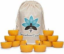 Bienenwachs Teelicht Kerzen Pure, handgegossen,