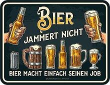 Bier - Bier jammert nicht - Blechschild mit