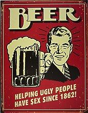 Bier Blechschild, 31x41