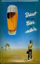 Bier - Durst Blechschild 20 x 30 cm