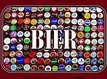 Bier, kronkorken blechschild