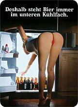 Bier Kühlschrank Unten Blechschild Stabil Groß