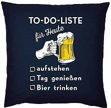 Bier-Motiv Sprüche Kissen - Sofakissen Bier-Motiv