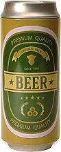 Bier Spardose in grün - Bier Sparbüchse Sparschwein Beer