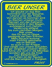 BIER UNSER BLECHSCHILD - Blechschild
