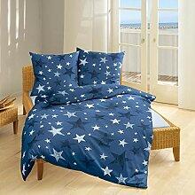 Bierbaum Biber Bettwäsche blau Sterne
