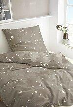 Bierbaum Biber Bettwäsche Flanell Stars 135 cm x
