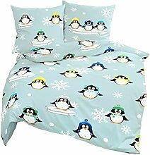 Bierbaum Biber Kinder Bettwäsche Pinguin