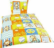Bierbaum Fein Biber Kinder Bettwäsche 135x200cm 2