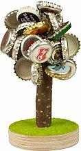 Bierbaum mit Magneten und Gravur für Kronkorken - lustiges Geschenk für Männer - Geburtstagsgeschenk für Väter - witziges zum Geburtstag