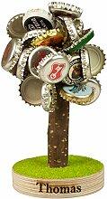 Bierbaum mit Magneten und Gravur für Kronkorken mit Gravur- lustigesGeschenke für Männer, Freund - Geburtstagsgeschenke für Väter