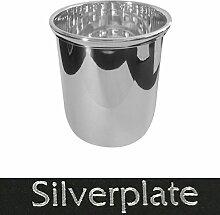 Bierbecher 9,5x8 cm Silber Plated versilbert in