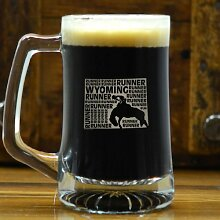 Bierbecher Wyoming State Runner mit Gravur