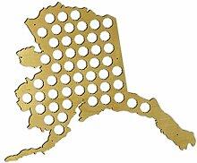 Bierflaschenhalter Alaska Bierdeckel Karte