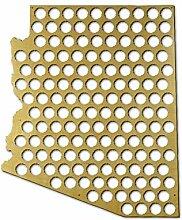 Bierflaschenhalter Arizona Bierdeckel Karte