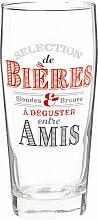 Bierglas, bedruckt