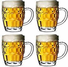 Bierglas Bierkrug Polykarbonat Plastik Mit