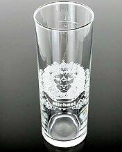 Bierglas, Bierkrug, Weizenglas mit Gravur
