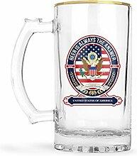 Bierglas mit amerikanischem Emblem, geeignet für