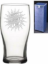 Bierglas mit Gravur/bedruckter Tulpenform,