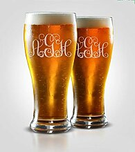 Bierglas mit Gravur, Geschenk für Herren,