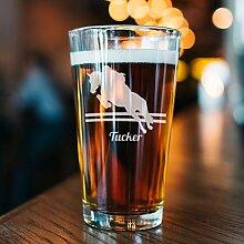 Bierglas Springen Pferd Glas Springen Pferd