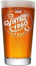 Bierglas zum 60. Geburtstag für Männer und